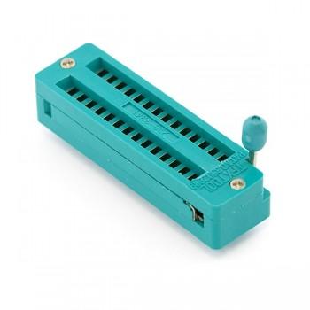 28-pin ZIF/ZIP/DIP IC Logic Chip Socket (TEXTDOL)