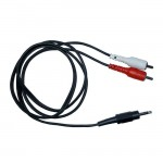 1.5m 3.5mm to 2 x Phono Cinch RCA Cable